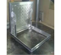 Напольный люк 60х60 - с газовыми амортизаторами (h=54мм)