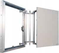 Люк-невидимка под плитку ЕвроФОРМАТ-Р ЕСКР 40х40 со сдвижной дверцей