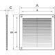 Решетка 25x25 (2525РР белая)