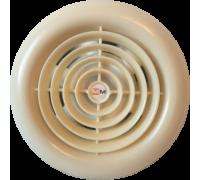 Вентилятор ММ 100 круглый (кремовый)